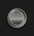 platinum seal with stars in black background vector image vector image