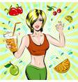 pop art of beautiful sporty vector image vector image