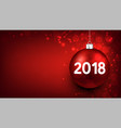 red 2018 new year background vector image