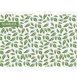 retro leaf seamless pattern modern vector image