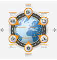 Road And Street Route Business Travel Infographic vector image