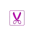 Scissors icon concept for vector image vector image