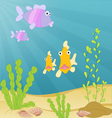 Sea creatures underwater vector image