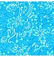 sea flowers seamless decorative pattern vector image vector image