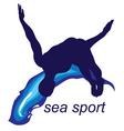 sea sports logo vector image vector image