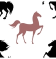 Seamless pattern with horses vector image vector image
