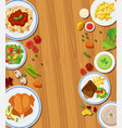 set of meal concept vector image vector image