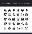 simple icons global day parents vector image vector image