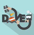 Snorkel And Oxygen Tank In Hand With Diver vector image vector image