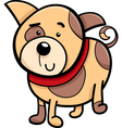 spotted puppy cartoon vector image vector image