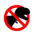 Stop dinosaur Prohibited tirranozavr Rex vector image vector image