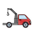 truck crane isolated icon vector image vector image