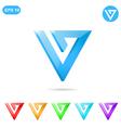 V letter logo concept vector image vector image