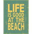 Vintage Beach Design vector image vector image