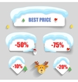 winter design christmas sale stickers discounts vector image vector image