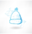 Winter hat grunge icon vector image vector image