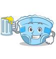 with juice baby diaper character cartoon vector image vector image