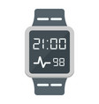smart watch flat icon gadget and device vector image