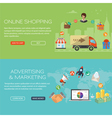 Online Shopping and Marketing Banners vector image