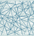 silver grey blue wire geometric mosaic vector image