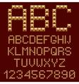 3d gold alphabets letters vector image vector image