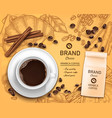 3d realistic coffee cup package concept vector image