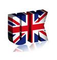 3d uk text or background united kingdom flag vector image vector image