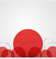 abstract background with red circles and halftone vector image vector image