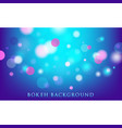 abstract bokeh lights background vector image vector image