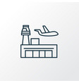 airport icon line symbol premium quality isolated vector image