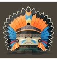 an American Indian in the wild west vector image vector image