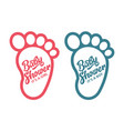 baby foot baby shower invite greeting cards vector image vector image