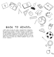 Back to School lineart background Various school vector image vector image