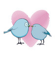 birds love valentine s day vector image