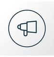 bullhorn icon line symbol premium quality vector image vector image