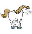 Cartoon happy horse vector image