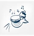 castanets sketch line design music instrument vector image vector image