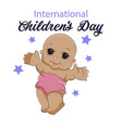 children s day card on a vector image vector image