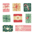 christmas gifts on white background vector image