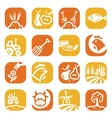 color agriculture and farming icons vector image vector image