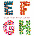 colorful funny paint alphabet efgh letters vector image vector image