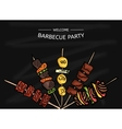 Colorful of a BBQ party on the vector image