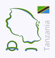 Colors of Tanzania vector image