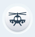 combat helicopter icon round pictograph vector image