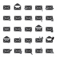 computer mail simple gray icons eps10 vector image vector image