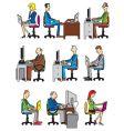 computer workers vector image vector image