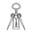 corkscrew utensil on white background vector image