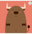 cute big fat taurus zodiac cartoon vector image