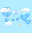 cute postcard template with its a boy lettering vector image