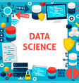 data science paper template vector image vector image